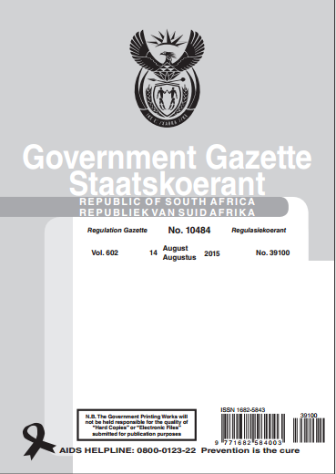 GovernmentGazetteNo39100